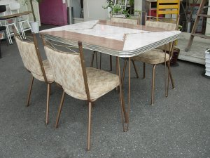画像1: Dining Table Set